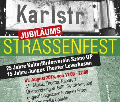 Plakat Straßenfest