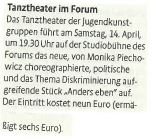 2018-04-13-KSTA- Ankündigung Tanztheater