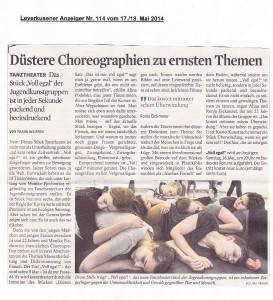 KStA-2014-05-17-Tanztheater Voll egal