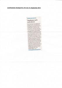 Leverkusener Anzeiger Nr.212 12.09.2014