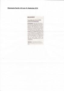 Rheinische Post Nr.210 10.9.2014