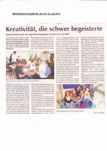 Wochenpost 15.07.2014